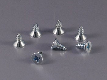 DIN 7982C TAPPING SCREW FLAT HEAD PHILLIPS ZINC PLATED